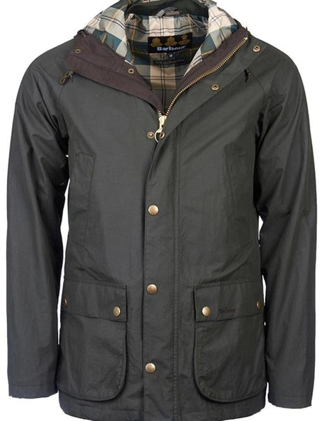 Abrigo Barbour. Modelo Bedal. Color verde.