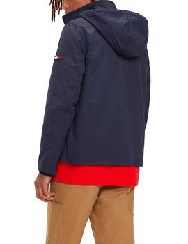 Cazadora Tommy Jeans Essential Hooded marino hombre