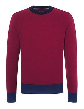 Jersey Tommy Hilfiger Color Tipped granate
