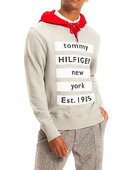 Felpa Tommy Hilfiger Relaxed Contrast Detail gris