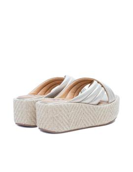 Sandalias No Name Betty Mule dorado mujer
