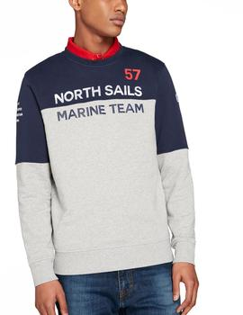 Felpa North Sails Graphics gris hombre