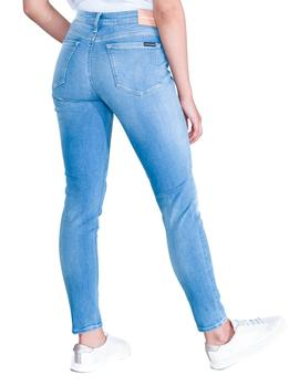 Vaqueros Calvin Klein 011 Mid Rise Skinny azul mujer