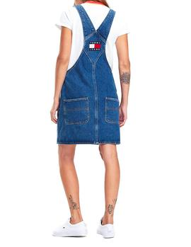Pichi Tommy Jeans Classic Dungaree Dress denim azul mujer