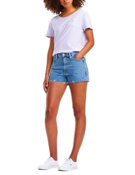 Shorts Parches Tommy Jeans denim azul mujer