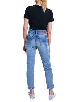 Vaqueros Tommy Jeans High Rise Slim Izzy Rainbow azul mujer