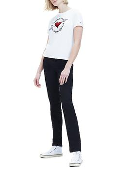 Camiseta Tommy Jeans Arrow Graphic Tee blanco mujer