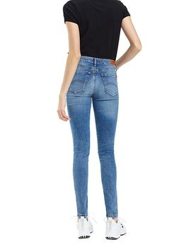Vaqueros Tommy Jeans Mid Rise Skinny Nora azul mujer