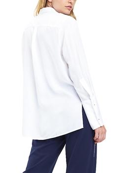 Camisa Tommy Jeans Drapey Side Slit blanco mujer