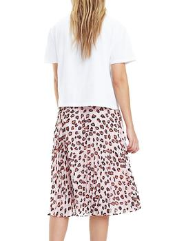 Camiseta Tommy Jeans Leopard Print Detail blanco mujer
