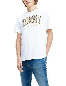 Camiseta Tommy Jeans Logo Print blanco hombre