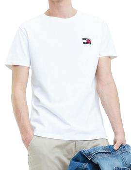 Camiseta Tommy Jeans TJW Badge blanco hombre