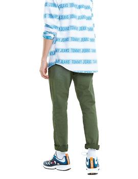 Pantalón Tommy Jeans Scanton Washed Chino verde hombre