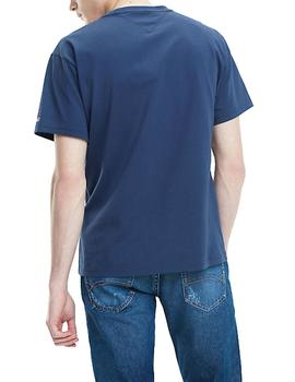 Camiseta Tommy Jeans Scratched Box marino hombre