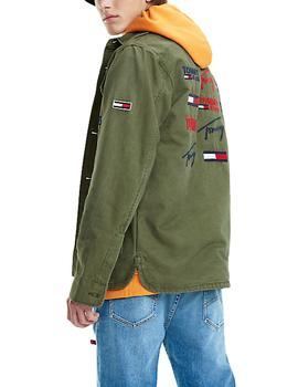 Chaqueta Tommy Jeans Cargo Jacket verde hombre