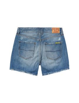 Shorts Pepe Jeans Mable Worn azul mujer